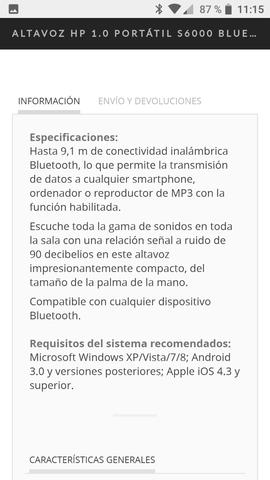 ALTAVOZ HP S6000-BLUETOOTH. RECARCABLE - foto 6