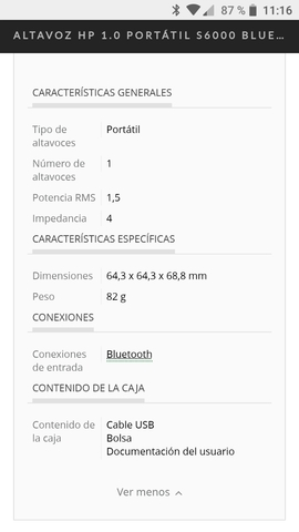 ALTAVOZ HP S6000-BLUETOOTH. RECARCABLE - foto 7