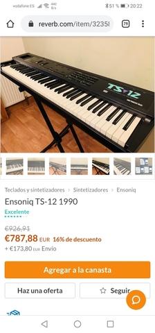 ENSONIQ TS12 76 TECLAS CONTRAPESADAS - foto 1