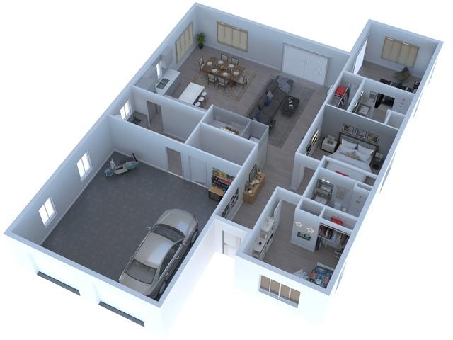 INFOGRAFIA 3D ARQUITECTURA E INTERIORES - foto 3