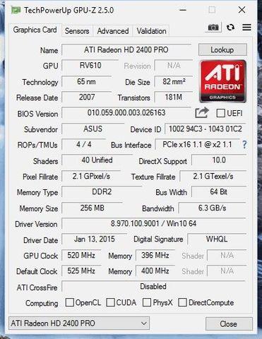 ATI RADEON HD 2400 PRO GDDR2  256MB - foto 2