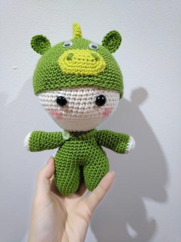 Crochet Amigurumi Big Head Doll Yoyo Free Pattern - Crochet Doll ... | 480x359