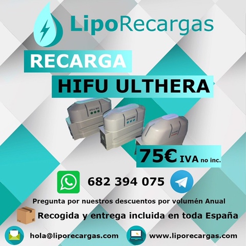 RECARGA CARTUCHOS HIFU Y LIPOSONIX - foto 2
