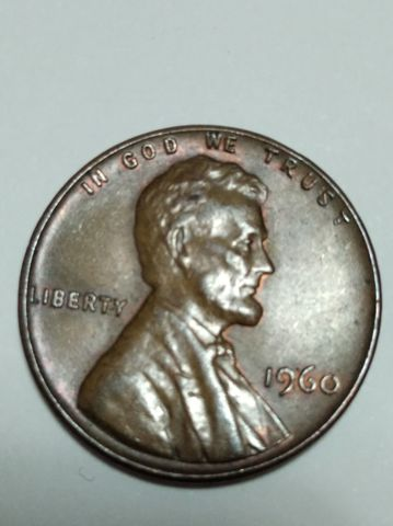 Antigua Moneda 1960New Penny Fecha Larga