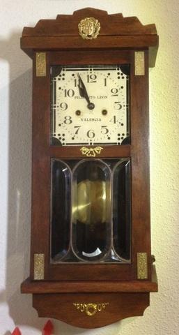 Reloj Pared Antiguo Pendulo Madera