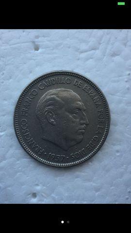 5 Pesetas Franco 1957