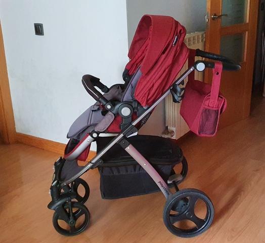 2015 cochecito de bebé recién nacido, 3 ruedas inflables