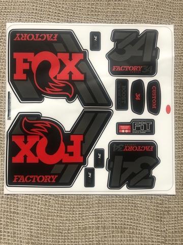 Adhesivos Horquilla Fox Factory 34