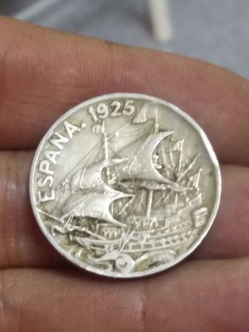 Moneda 25 Centimos 1925 Barco
