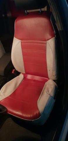 OPEL Vectra VXR Delantero Par De Aspecto de Cuero Rojo Cubiertas de Asiento de Coche