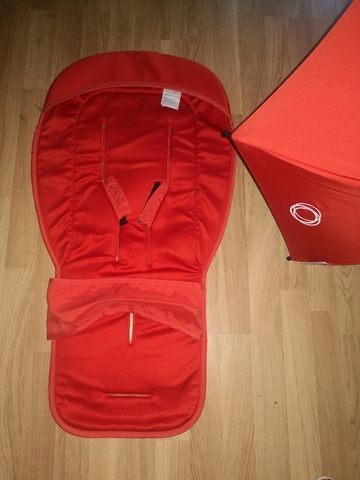 colchoneta silla ligera rojo mandarina