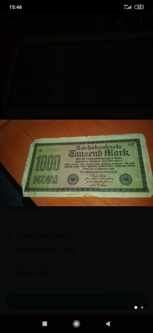 4 Billetes Antiguo