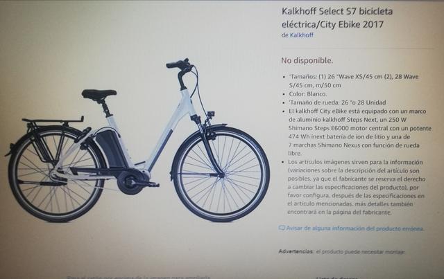 BICICLETA ELÈCTRICA KALKHOFF S7 TALLA L - foto 7