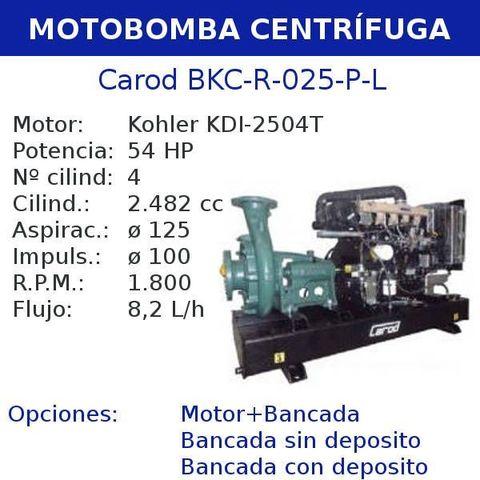 MOTOBOMBA CENTRIFUGA CAROD BKC-R-025-P-L - foto 1