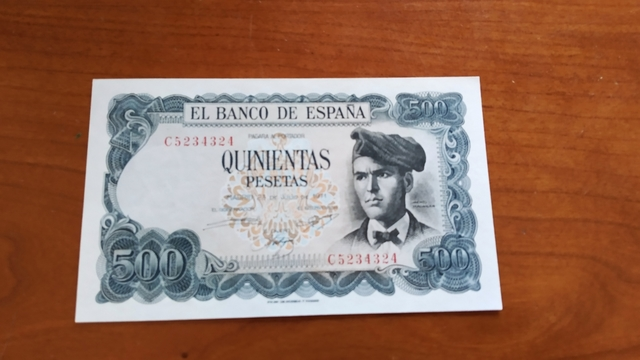 Billete 500 Pesetas 1971.