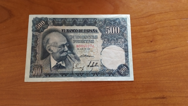 Billete 500 Pesetas 1951.