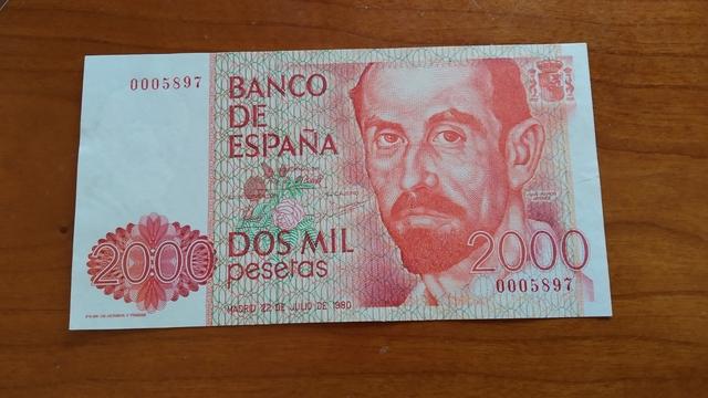 2000 Pesetas 1980.N° 0005897.