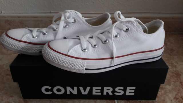 converse blanca 36
