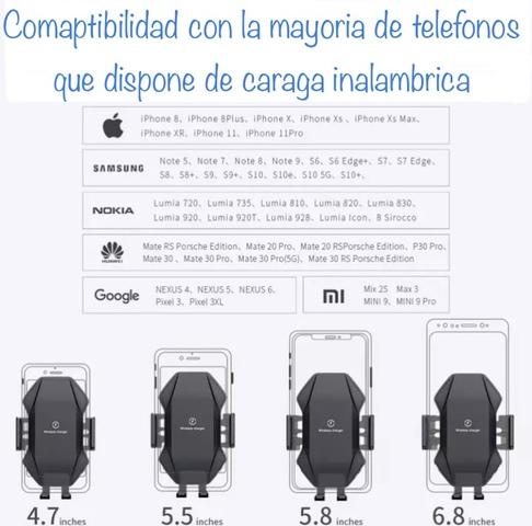 SOPORTE Y CARGADOR INALAMBRIC SMARTPHONE - foto 9