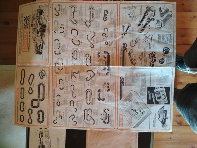 Material Original Scalextric Decada 1980