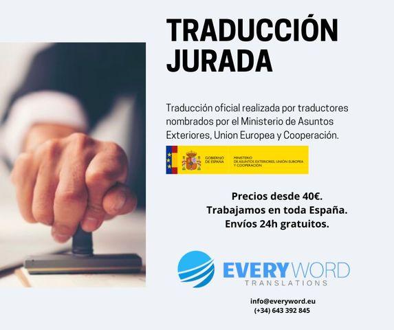 TRADUCCIÓN JURADA Y ESPECIALIZADA - foto 1