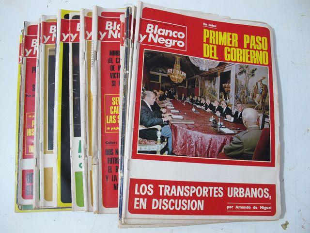 17 Revistas   Blanco Y  Negro Años 1.974