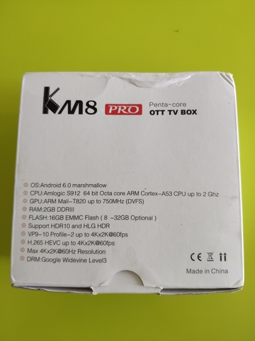 TV BOX KM8 PRO SOC 912,  16GB MEMORIA - foto 2