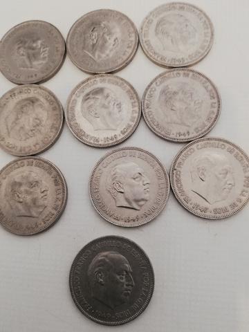 Monedas De 5 Pesetas 1949.