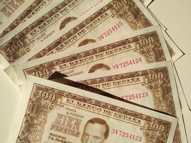 Lote 9 Billetes - 100 Pesetas 1953