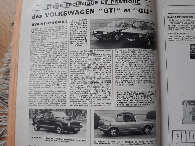 VOLKSWAGEN GOLF MK1 GTI GLI MANUAL TALLE - foto 7
