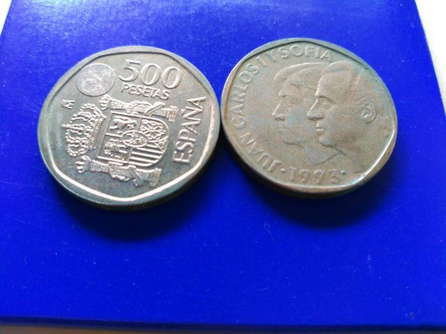Monedas De 500 Ptas.Años,1993,1994