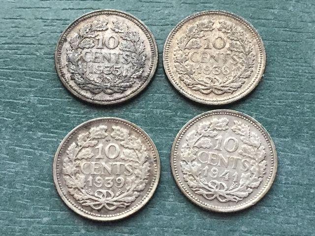 Holanda Colección 4 Monedas Plata