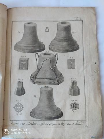 7 GRABADOS,  FABRICACION CAMPANAS,  1751 - foto 1