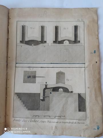 7 GRABADOS,  FABRICACION CAMPANAS,  1751 - foto 3