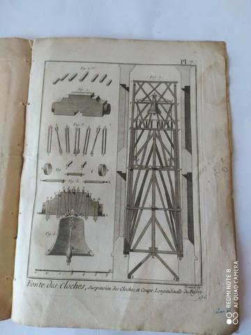 7 GRABADOS,  FABRICACION CAMPANAS,  1751 - foto 5