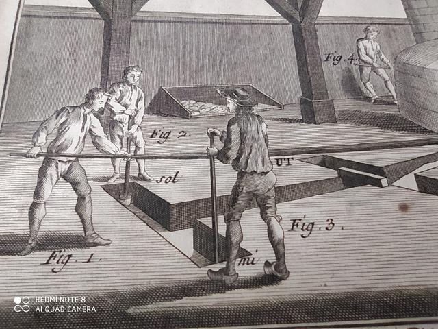 7 GRABADOS,  FABRICACION CAMPANAS,  1751 - foto 7