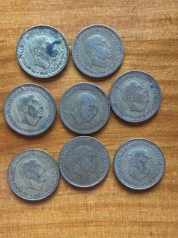 8 Monedas, Peseta Del Caudillo De 1966