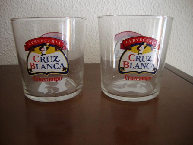 Dos Vasos Cruz Blanca De Cruzcampo