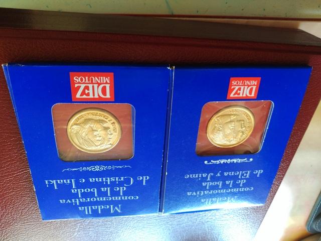 Monedas Conmemorativas ( Bodas )