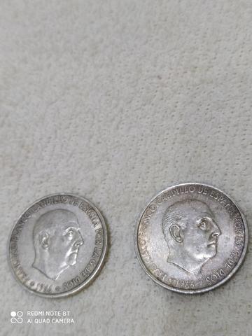 Pareja De Moneda De 100 Pesetas 1966*68