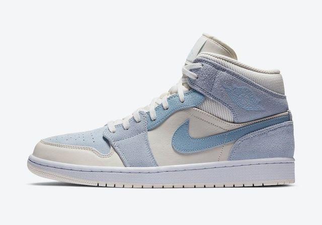 air jordan 1 mid azul