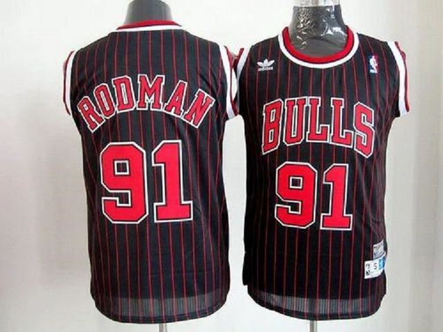 CAMISETA NBA CHICAGO 91 NEGRA RETRO - foto 1