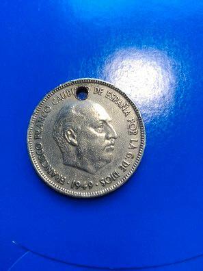 Medallon De 5 Pesetas Año 1949-19/50