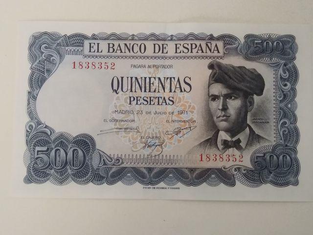 Billete 500 Pesetas 1971 Sin Serie