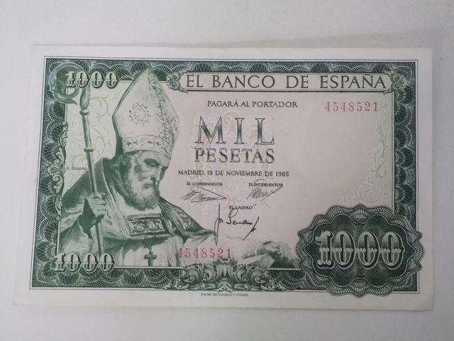 Billete 1000 Pesetas 1965 Sin Serie