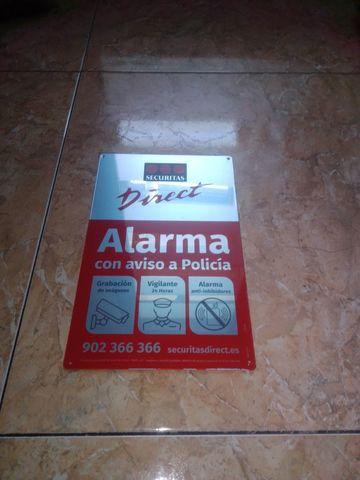 Cartel Placa De Alarma Securitas Direct