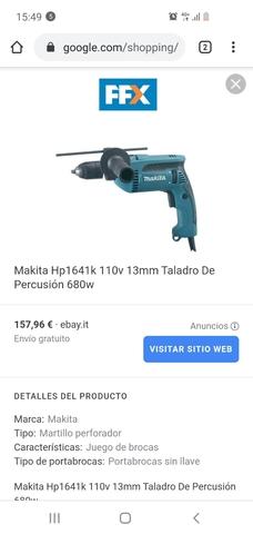 Vendo Taladro Makita 680W