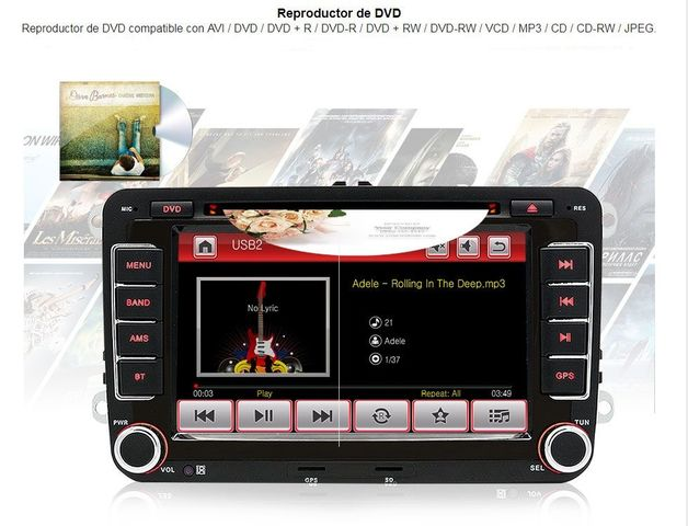RADIO PANTALLA GPS PARA VW GOLF 5 PASSAT - foto 4