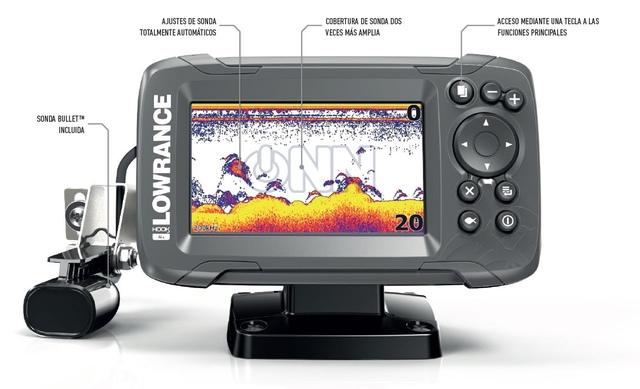 KIT SONDA GPS PLOTTER LOWRANCE HOOK2-4X - foto 2