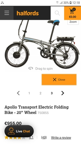 BICICLETA ELECTRICA APOLLO E FOLDING NUE - foto 9